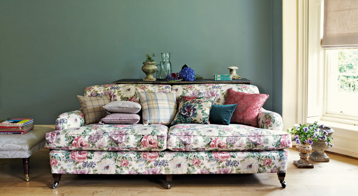 Tessuti per divani blog arredamento divani letti - Tessuti fiorati ...